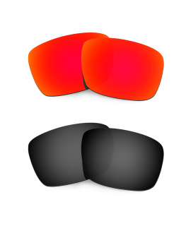 HKUCO Red+Black Polarized Replacement Lenses For Oakley Fuel Cell Sunglasses
