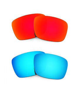 HKUCO Red+Blue Polarized Replacement Lenses For Oakley Fuel Cell Sunglasses