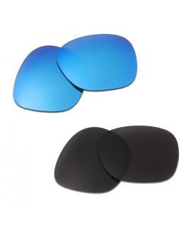 HKUCO Blue+Black Polarized Replacement Lenses For Oakley Garage Rock Sunglasses