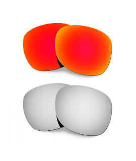 Hkuco Mens Replacement Lenses For Oakley Garage Rock Red/Titanium Sunglasses