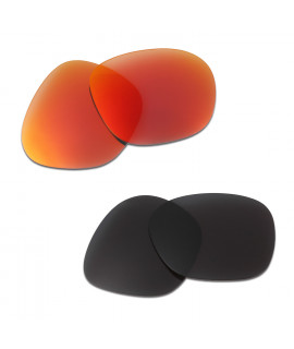 HKUCO Red+Black Polarized Replacement Lenses For Oakley Garage Rock Sunglasses