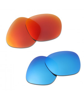 HKUCO Red+Blue Polarized Replacement Lenses For Oakley Garage Rock Sunglasses