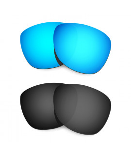 Hkuco Mens Replacement Lenses For Oakley Frogskins (Asia Fit) Sunglasses Blue/Black Polarized