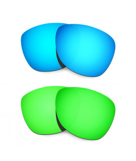 Hkuco Mens Replacement Lenses For Oakley Frogskins (Asia Fit) Blue/Green Sunglasses