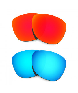 Hkuco Mens Replacement Lenses For Oakley Frogskins (Asia Fit) Red/Blue Sunglasses