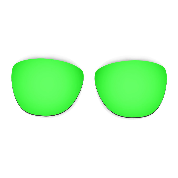 HKUCO Mens Replacement Lenses For Oakley Frogskins Lite Black/Emerald Green Sunglasses zv8K2awWw