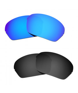 Hkuco Mens Replacement Lenses For Oakley Half X Sunglasses Blue/Black Polarized
