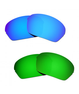 Hkuco Mens Replacement Lenses For Oakley Half X Blue/Green Sunglasses