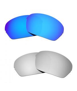 Hkuco Mens Replacement Lenses For Oakley Half X Blue/Titanium Sunglasses