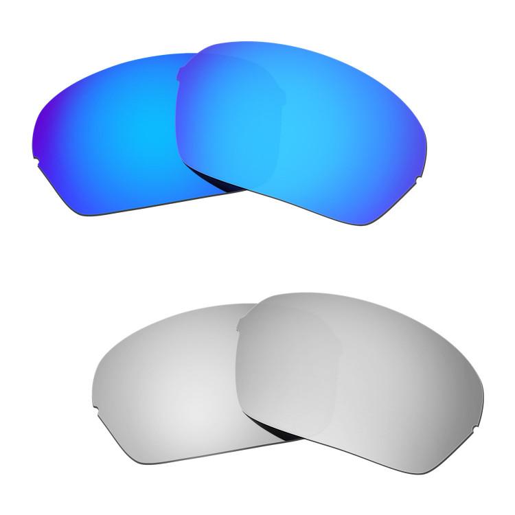 897db72a8e8 Hkuco Mens Replacement Lenses For Oakley Half X Blue Titanium Sunglasses