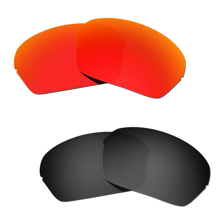 b1c7cb2b00 Hkuco Mens Replacement Lenses For Oakley Half X Red Black Sunglasses