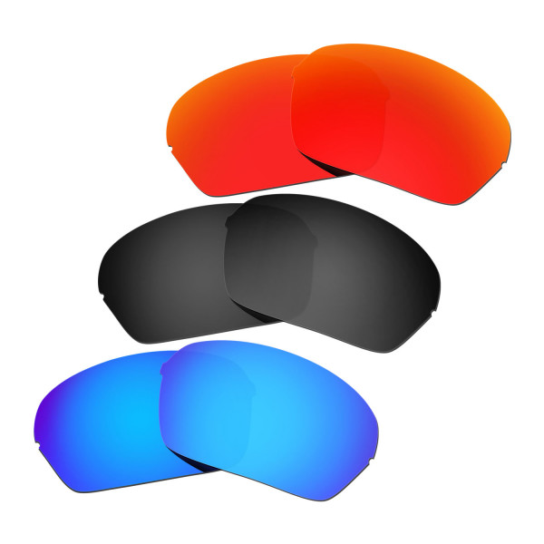 44fd22bba6 Hkuco Mens Replacement Lenses For Oakley Half X Red Blue Black Sunglasses