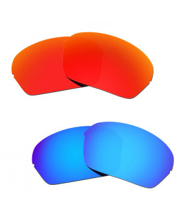 Hkuco Mens Replacement Lenses For Oakley Half X Red/Blue Sunglasses