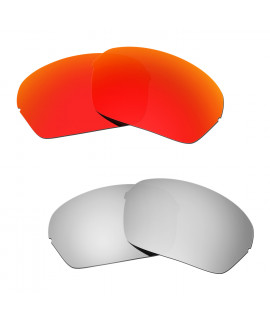 Hkuco Mens Replacement Lenses For Oakley Half X Red/Titanium Sunglasses