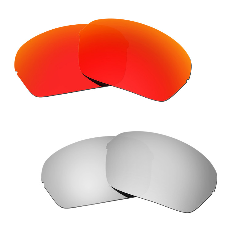 1a1ce07be8 Hkuco Mens Replacement Lenses For Oakley Half X Red Titanium Sunglasses