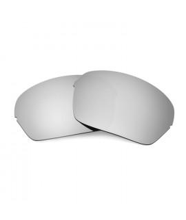 Hkuco Mens Replacement Lenses For Oakley Half X Sunglasses Titanium Mirror Polarized