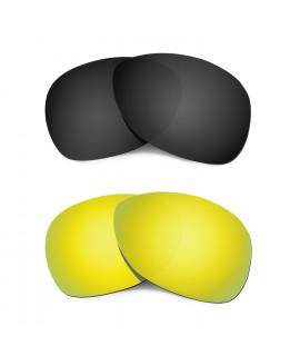 Hkuco Mens Replacement Lenses For Oakley Crosshair (2012) Black/24K Gold Sunglasses