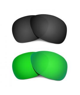 Hkuco Mens Replacement Lenses For Oakley Crosshair (2012) Black/Emerald Green Sunglasses