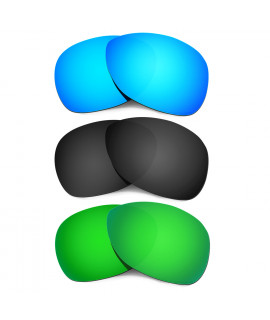Hkuco Mens Replacement Lenses For Oakley Crosshair (2012) Blue/Black/Emerald Green Sunglasses