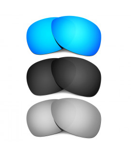 Hkuco Mens Replacement Lenses For Oakley Crosshair (2012) Blue/Black/Titanium Sunglasses