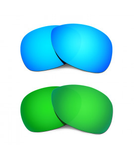 Hkuco Mens Replacement Lenses For Oakley Crosshair (2012) Blue/Green Sunglasses