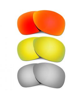 Hkuco Mens Replacement Lenses For Oakley Crosshair (2012) Red/24K Gold/Titanium Sunglasses