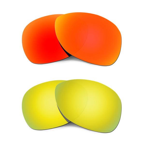 Hkuco Mens Replacement Lenses For Oakley Crosshair (2012) Red/24K Gold Sunglasses