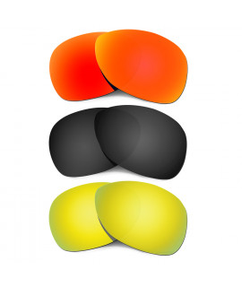 Hkuco Mens Replacement Lenses For Oakley Crosshair (2012) Red/Black/24K Gold Sunglasses
