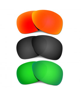 Hkuco Mens Replacement Lenses For Oakley Crosshair (2012) Red/Black/Emerald Green Sunglasses
