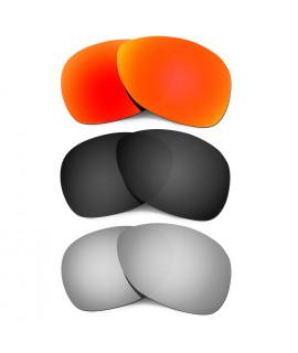 Hkuco Mens Replacement Lenses For Oakley Crosshair (2012) Red/Black/Titanium Sunglasses