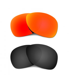 Hkuco Mens Replacement Lenses For Oakley Crosshair (2012) Red/Black Sunglasses