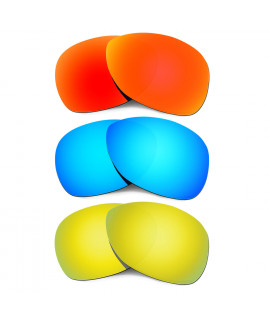 Hkuco Mens Replacement Lenses For Oakley Crosshair (2012) Red/Blue/24K Gold Sunglasses