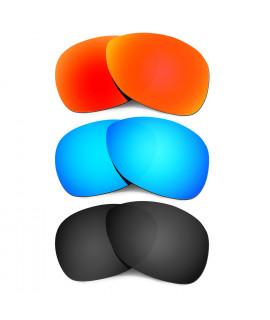 Hkuco Mens Replacement Lenses For Oakley Crosshair (2012) Red/Blue/Black Sunglasses