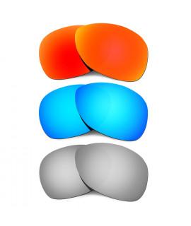 Hkuco Mens Replacement Lenses For Oakley Crosshair (2012) Red/Blue/Titanium Sunglasses