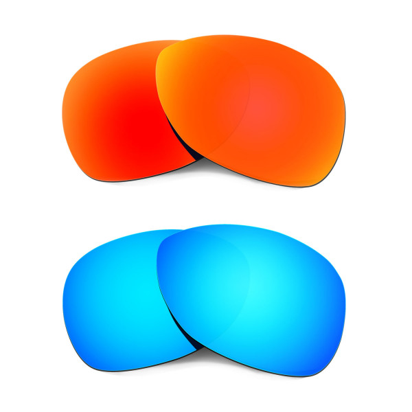 Hkuco Mens Replacement Lenses For Oakley Crosshair (2012) Red/Blue Sunglasses