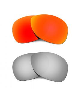 Hkuco Mens Replacement Lenses For Oakley Crosshair (2012) Red/Titanium Sunglasses