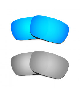 Hkuco Mens Replacement Lenses For Oakley Jury Blue/Titanium Sunglasses