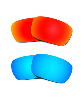 Hkuco Mens Replacement Lenses For Oakley Jury Red/Blue Sunglasses