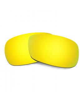 Hkuco Mens Replacement Lenses For Oakley Crosshair 2.0 Sunglasses 24K Gold Polarized