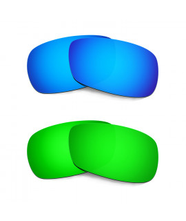 Hkuco Mens Replacement Lenses For Oakley Crosshair 2.0 Blue/Green Sunglasses