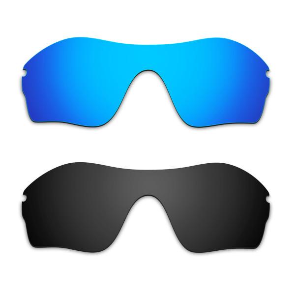 Hkuco Mens Replacement Lenses For Oakley Endure Edge Sunglasses Blue/Black Polarized