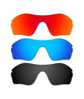 Hkuco Mens Replacement Lenses For Oakley Endure Edge Red/Blue/Black Sunglasses