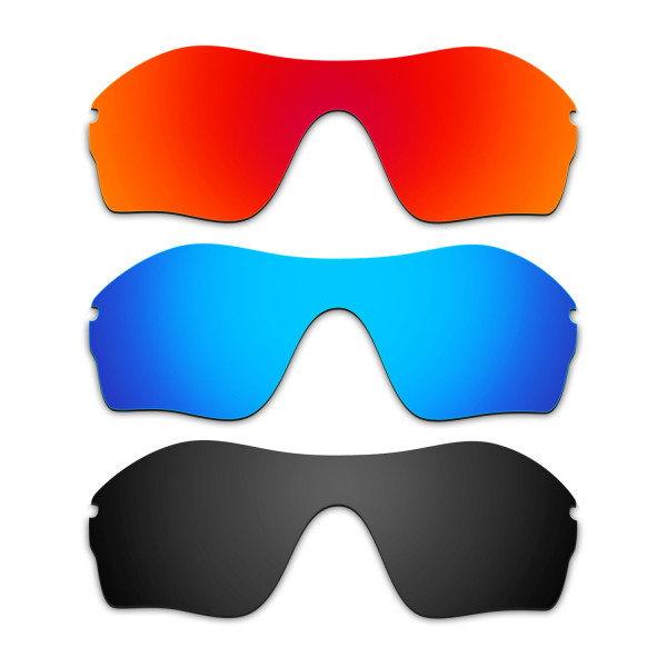 Hkuco Mens Replacement Lenses For Oakley Endure Edge Red/Blue/Black Sunglasses