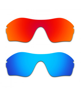Hkuco Mens Replacement Lenses For Oakley Endure Edge Red/Blue Sunglasses