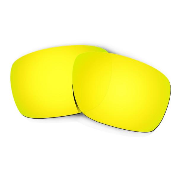 Hkuco Mens Replacement Lenses For Oakley Turbine Sunglasses 24K Gold Polarized