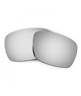 Hkuco Mens Replacement Lenses For Oakley Turbine Sunglasses Titanium Mirror Polarized