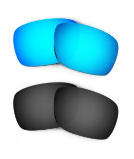 Hkuco Mens Replacement Lenses For Oakley Turbine Sunglasses Blue/Black Polarized