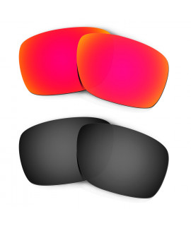 Hkuco Mens Replacement Lenses For Oakley Turbine Red/Black Sunglasses