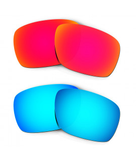 Hkuco Mens Replacement Lenses For Oakley Turbine Red/Blue Sunglasses