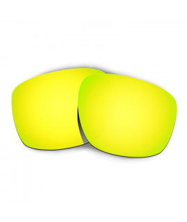 Hkuco Mens Replacement Lenses For Oakley Sliver Sunglasses 24K Gold Polarized